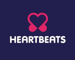Логотип в виде двух сердец
