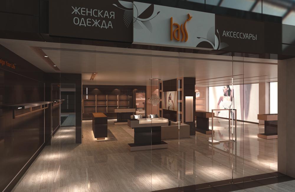 44044ef5248 Разработка бренда сети магазинов модной женской одежды LASS  дизайн  логотипа